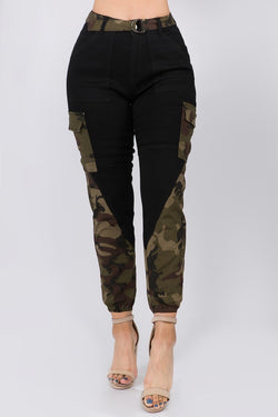 Camouflage Colorblock Jogger(Small - 3X)