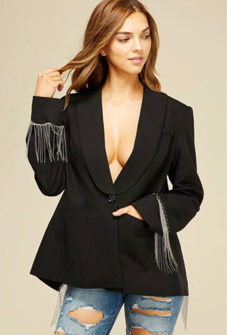 Open Back Chain Blazer