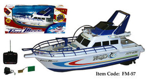 "18"" Fire Fighting RC Boat FM57 BLUE"