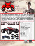 Earthquake 3.5 Truck 1/8 Scale Nitro (Black)