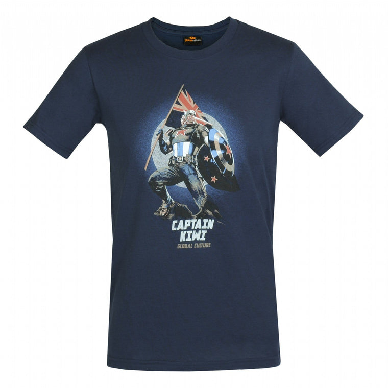 Captain Kiwi Mens T-Shirt