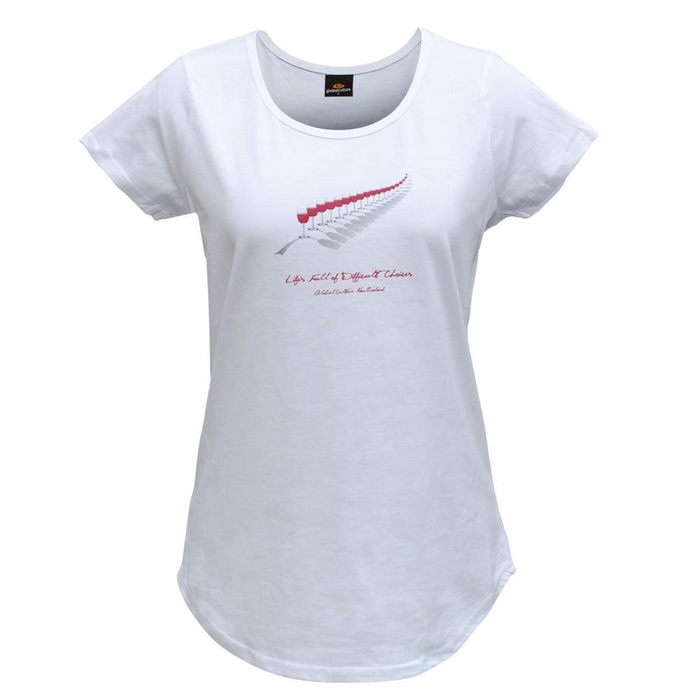 Red Wine Fern Womens T-Shirt - Global Culture