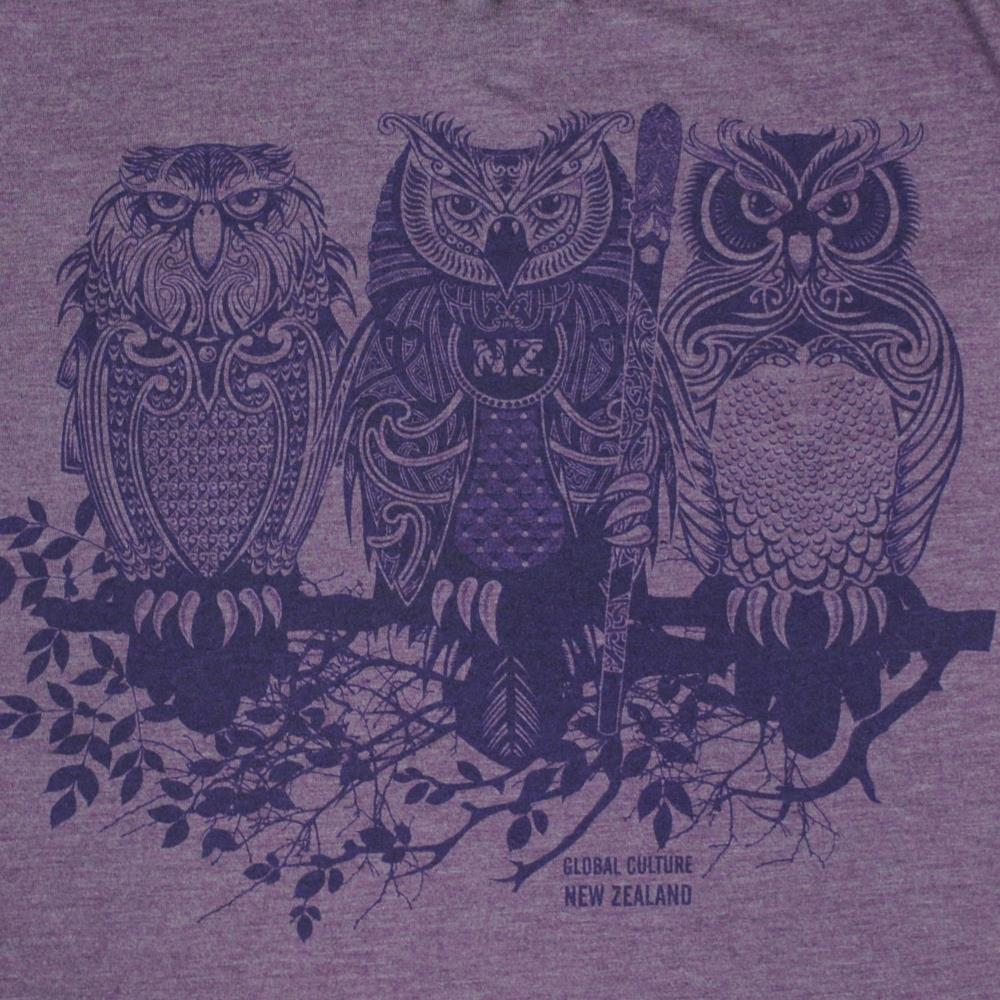 3 Wise Owls Womens T-Shirt - Global Culture