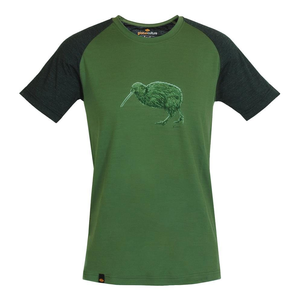 Kiwi II Merino S/S Mens T-Shirt - Global Culture