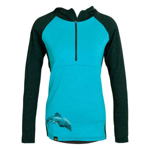 Load image into Gallery viewer, Maui Dolphin Merino 1/4 Zip Womens Hoodie - Global Culture