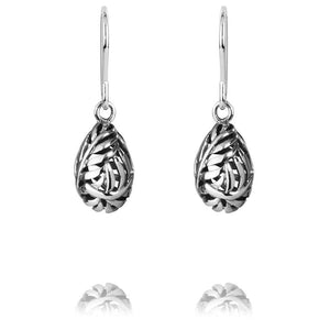 Load image into Gallery viewer, Silver Fern Drop Earrings - Global Culture