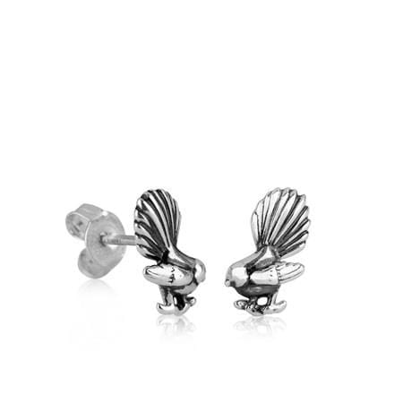Fantail Stud Silver Earring - Global Culture