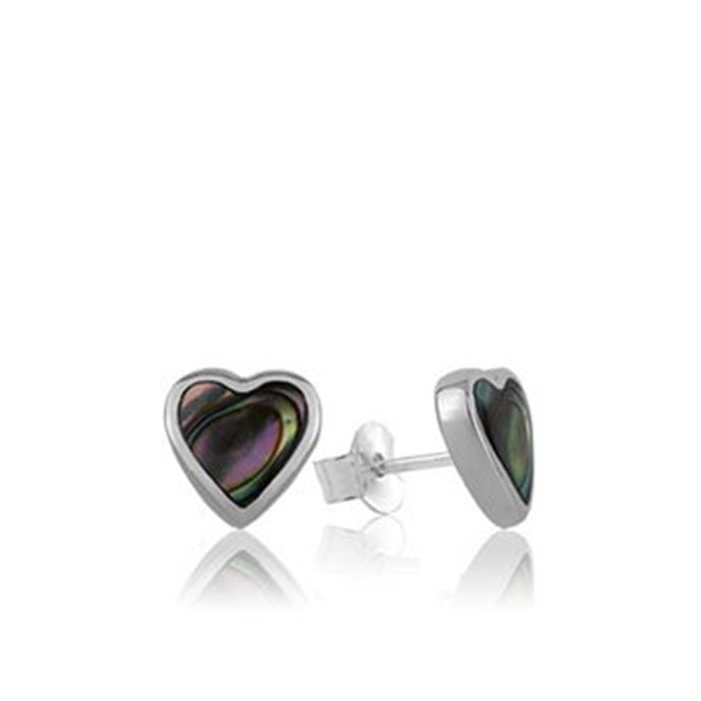 Load image into Gallery viewer, Paua Heart Studs - Global Culture