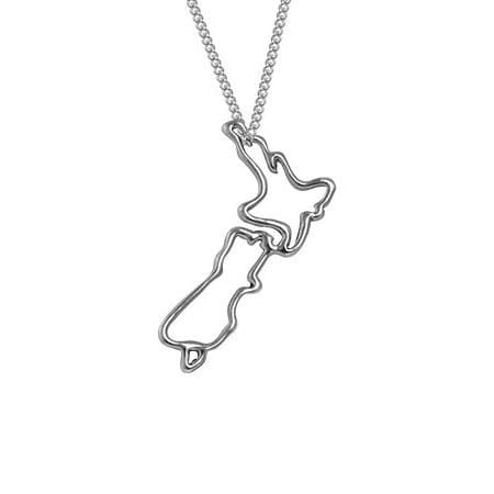 NZ Map Necklace - Global Culture