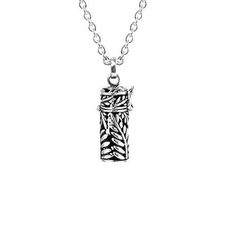 Silver Fern Locket with Chain - Global Culture