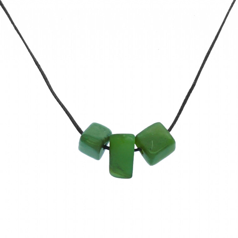 NZ Greenstone Toru Nugget Necklace