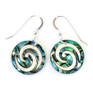 Load image into Gallery viewer, Paua PW Small Fit Koru Earrings - Global Culture