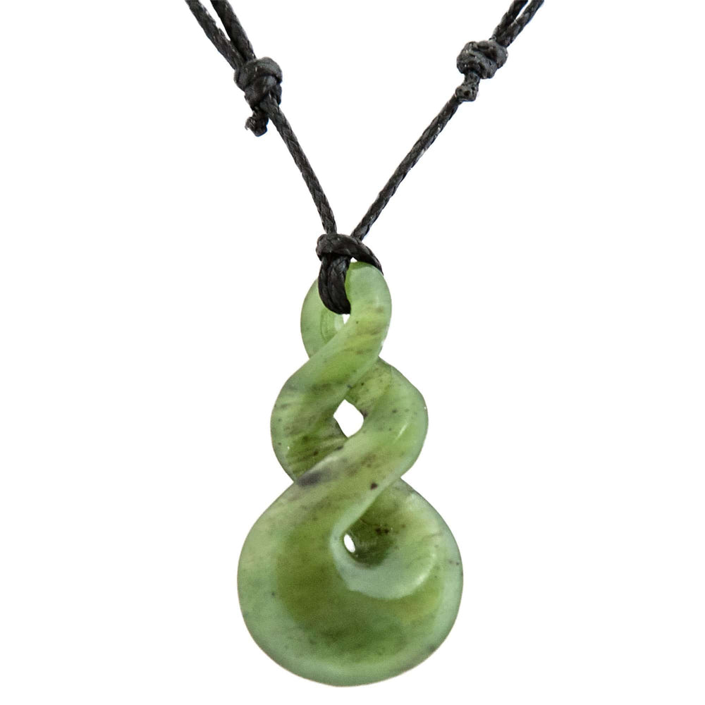 NZ Greenstone Double Twist Pendant - Global Culture