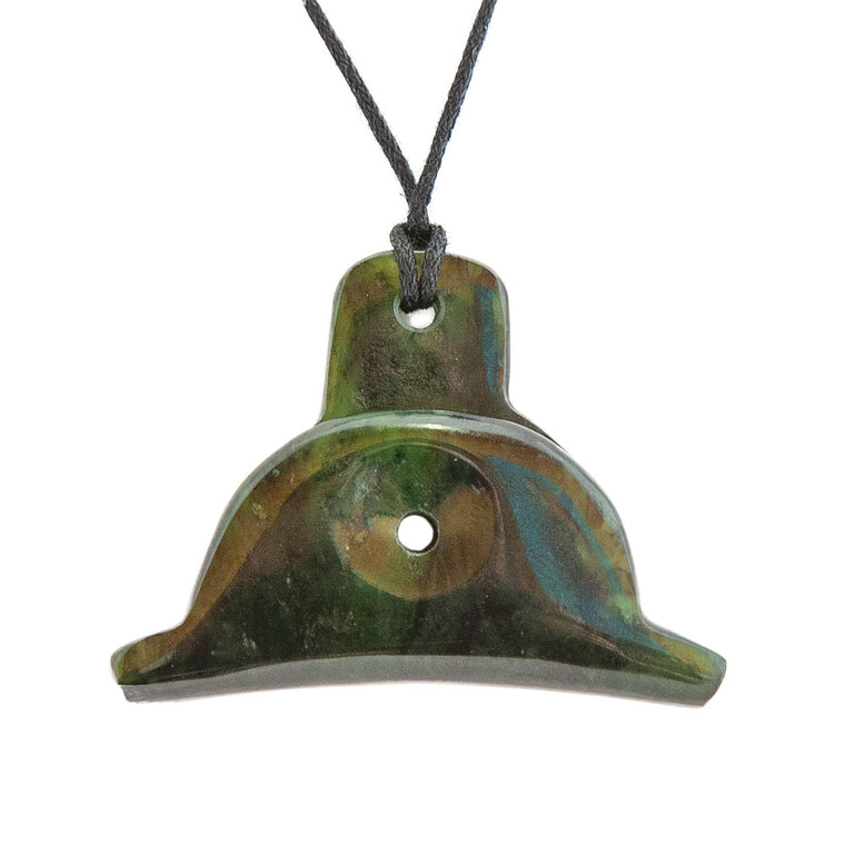 NZ Greenstone Shepherds Whistle Pendant