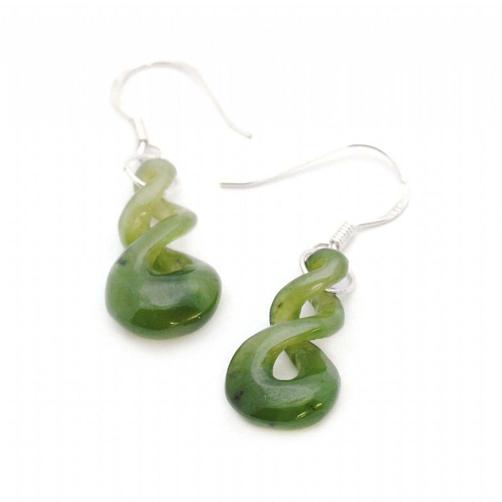 Double Twist Jade Earrings - Global Culture