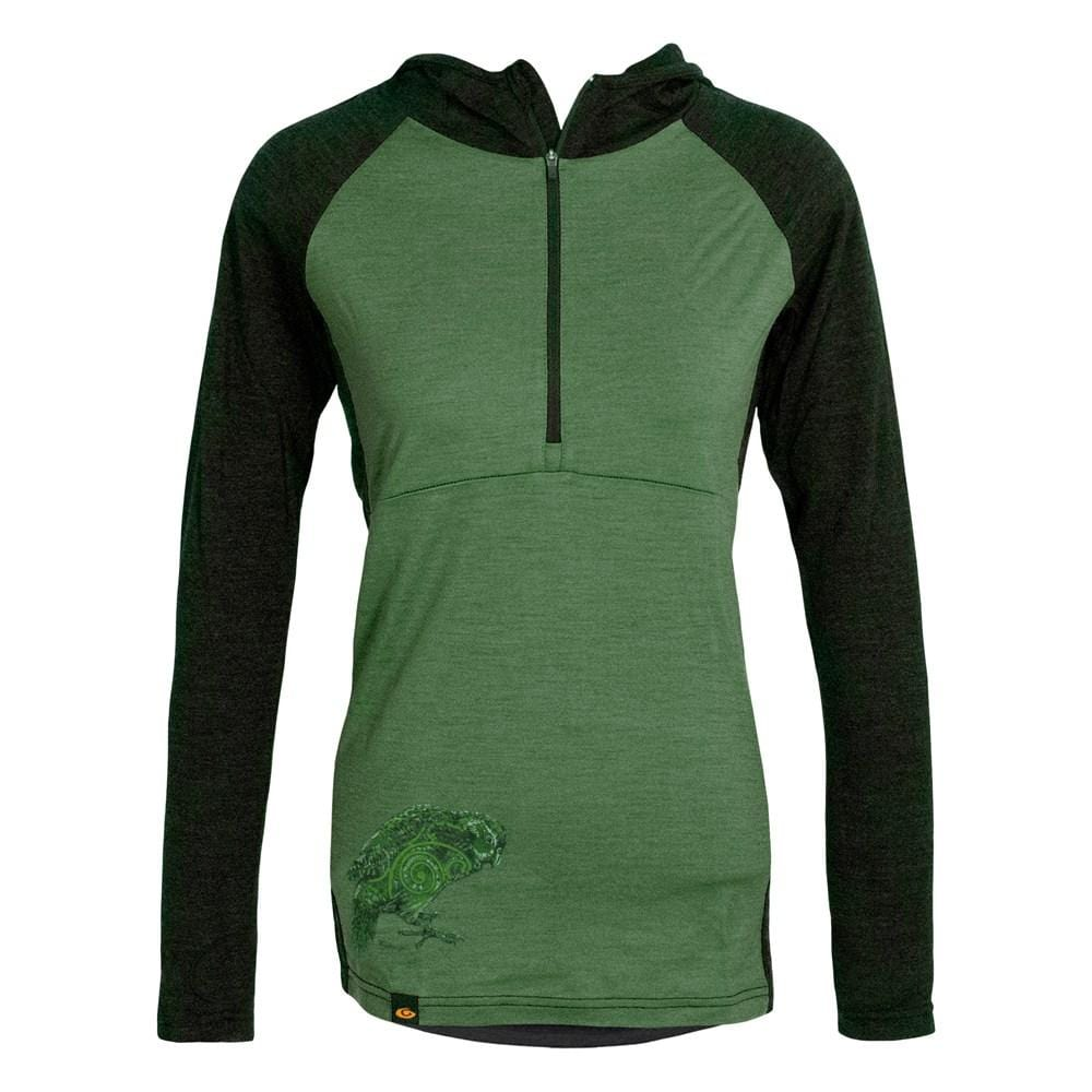 Kakapo Merino 1/4 Zip Womens Hoodie - Global Culture