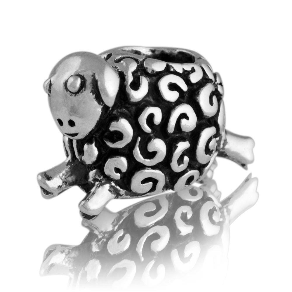 Woolly Sheep Silver Charm - Global Culture