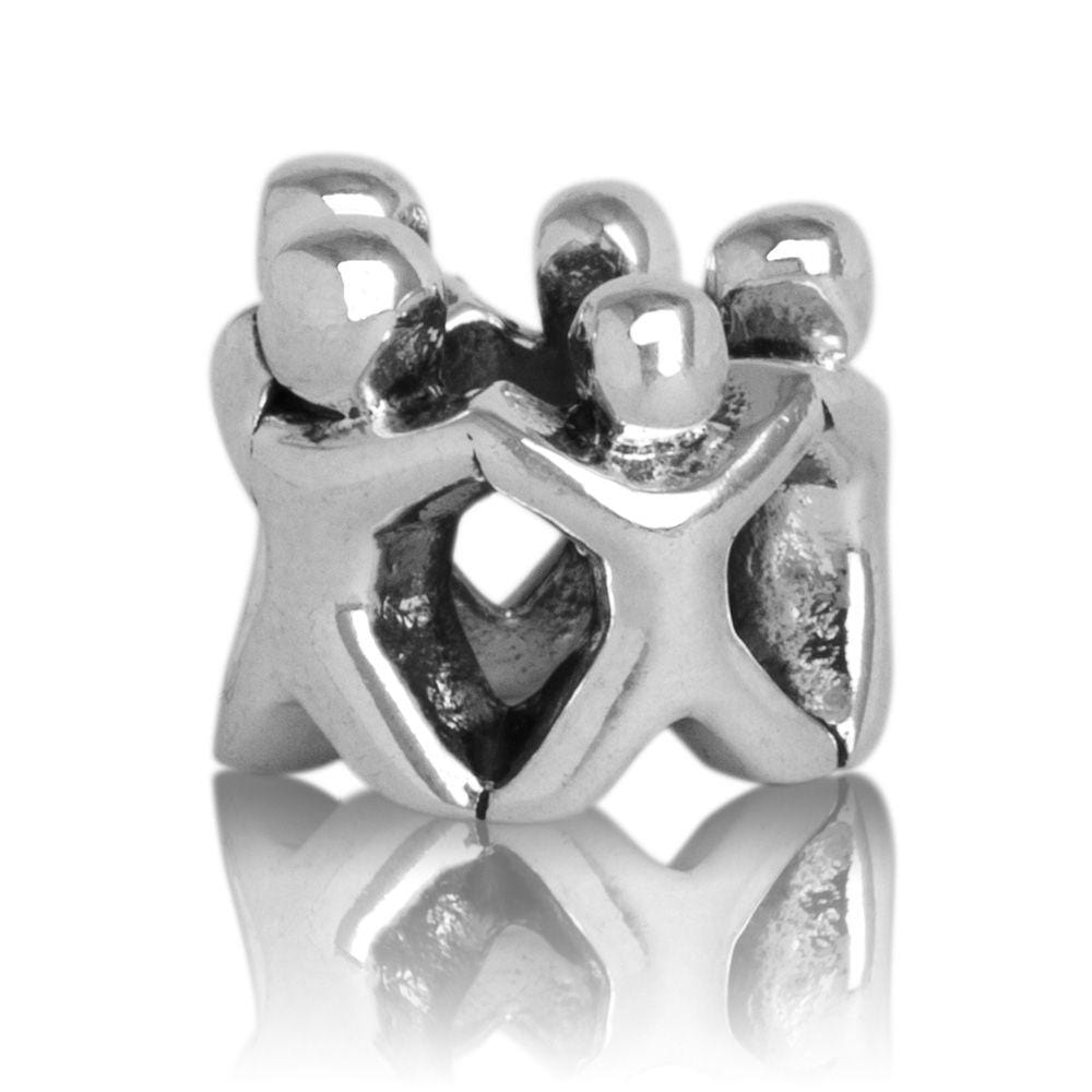 Family Circle Silver Charm