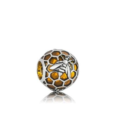 Honey Bee Silver Charm - Global Culture