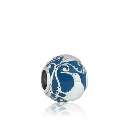 Load image into Gallery viewer, Woodland Kiwi Silver Charm - Global Culture