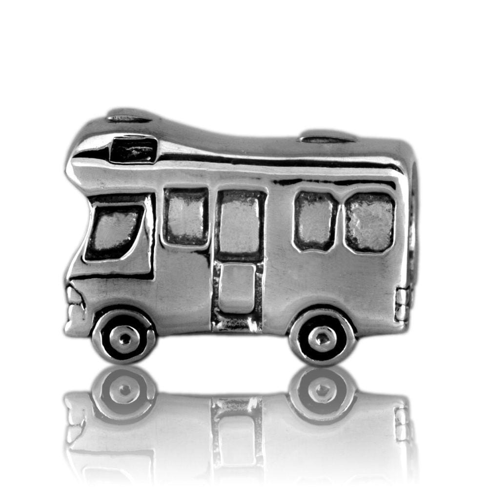 Camper Van Silver Charm - Global Culture