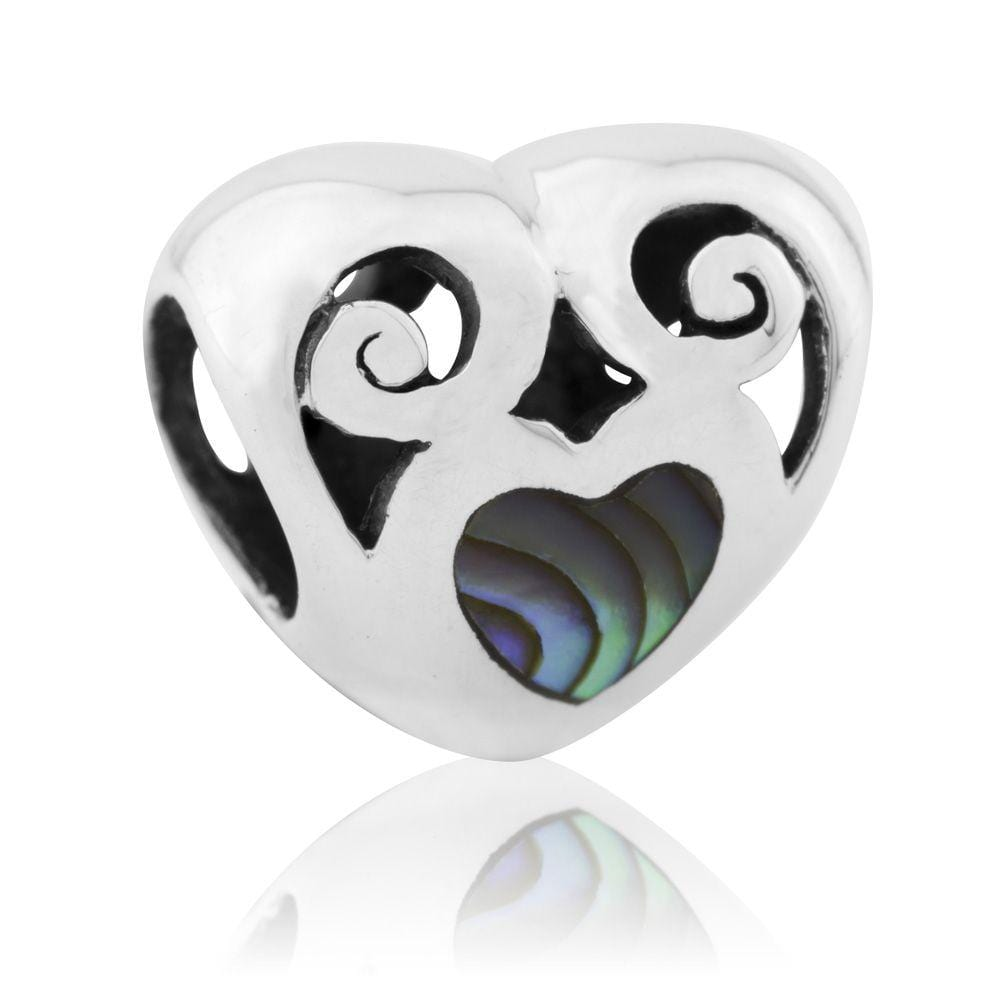 Love Paua Silver Charm - Global Culture