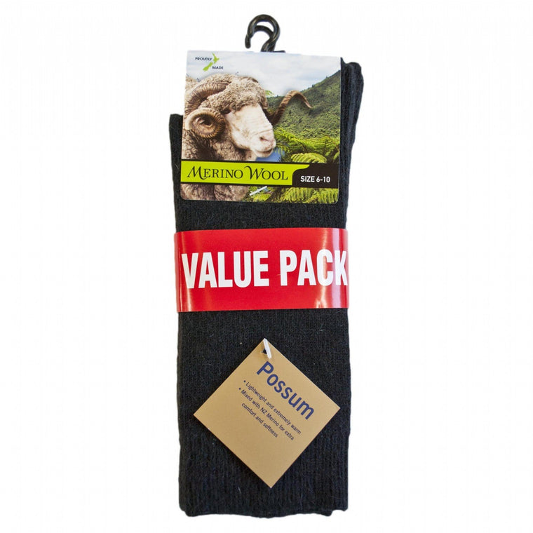 Possum Merino Mens 2PK Socks