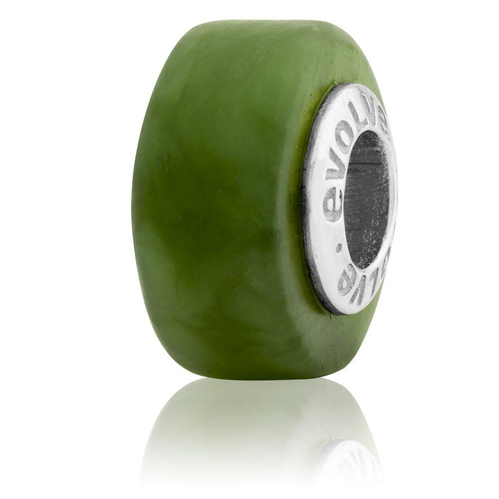 Greenstone Round (Pounamu) Silver Charm - Global Culture