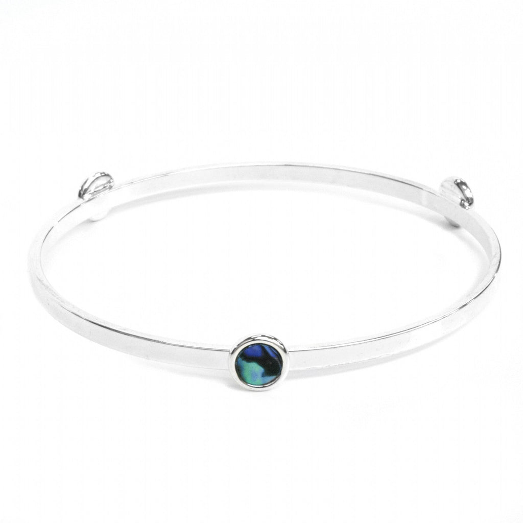 Paua Tri Bangle -19cm - Global Culture