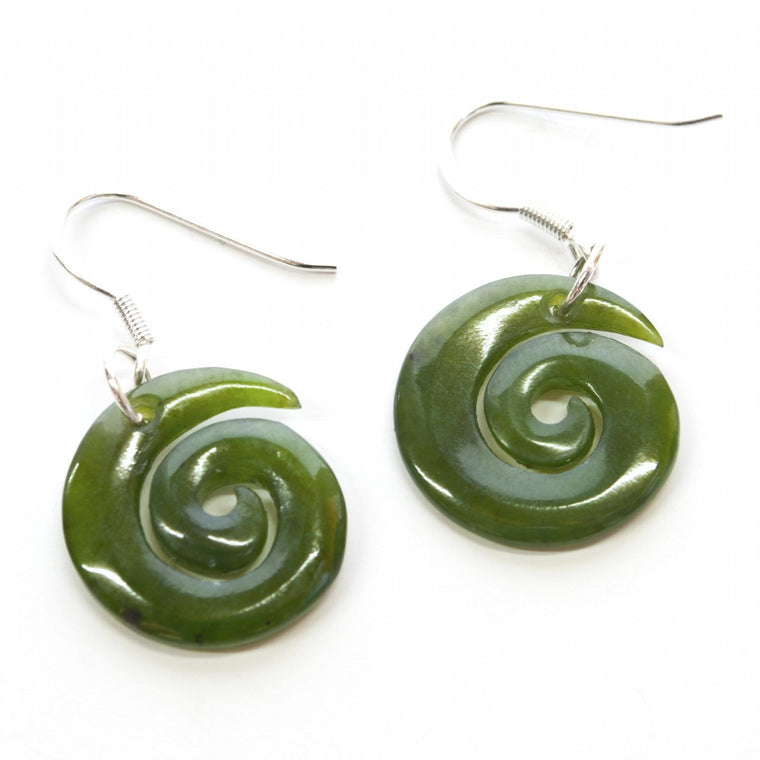 Koru Jade Earrings