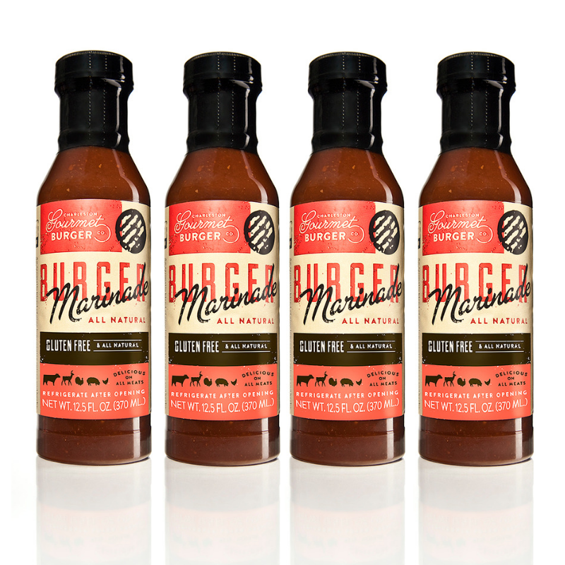 Charleston Gourmet Burger Marinade 4 Pack-The Ultimate Burger Marinade