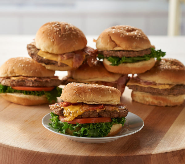 Charleston Gourmet Burger (12) Bacon or Brisket Topped Cheeseburgers - Includes FREE Shipping