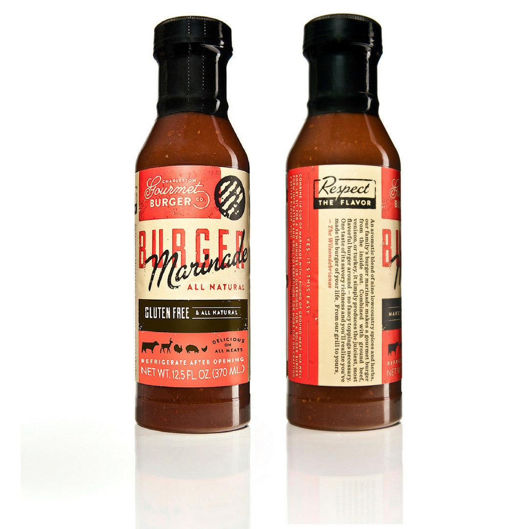 Charleston Gourmet Burger Marinade 2 Pack