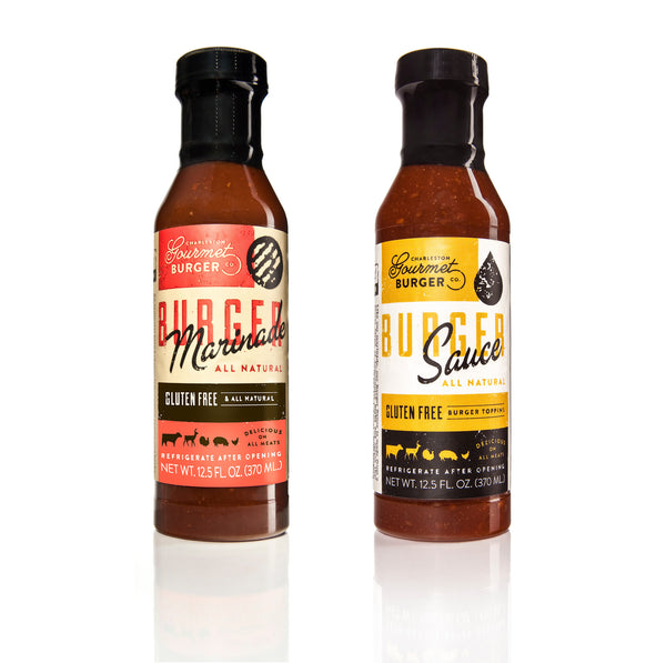 Charleston Gourmet Burger Marinade and Sauce 2 Pack