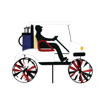 "Two Group - WW175014 Golf Cart Interests - Everyday Applique Decorative Windwheel 20"" x 49"""