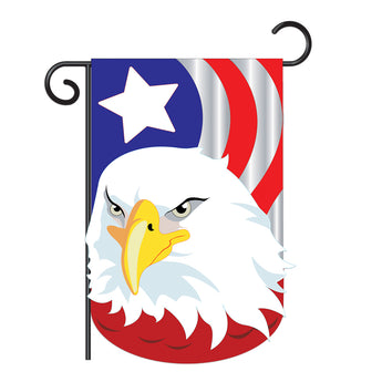 "Two Group G161040-P2 Eagle Garden Friends Birds Applique Decorative Vertical 13"" x 18.5"" Double Sided Flag"