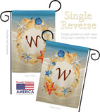 Summer W Initial - Beach Coastal Vertical Impressions Decorative Flags HG130179 Made In USA