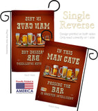 Man Cave Passing the Bar - Beverages Happy Hour & Drinks Vertical Impressions Decorative Flags HG117045 Made In USA