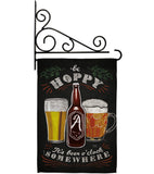 Hoopy Beer O'clock - Beverages Happy Hour & Drinks Vertical Impressions Decorative Flags HG117049 Made In USA