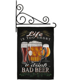 Drink Bad Beer - Beverages Happy Hour & Drinks Vertical Impressions Decorative Flags HG117050 Made In USA