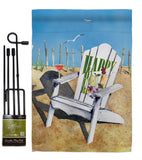 Beachside Happy Hour - Beverages Happy Hour & Drinks Vertical Impressions Decorative Flags HG117054 Made In USA