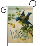 Welcome Birds - Birds Garden Friends Vertical Impressions Decorative Flags HG105038 Made In USA