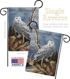 Superior Vantage Owl - Birds Garden Friends Vertical Impressions Decorative Flags HG105051 Made In USA