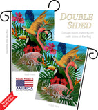 Tropical Bird Paradise - Birds Garden Friends Vertical Impressions Decorative Flags HG105053 Made In USA