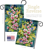 Orchids And Hummingbirds - Birds Garden Friends Vertical Impressions Decorative Flags HG105055 Made In USA