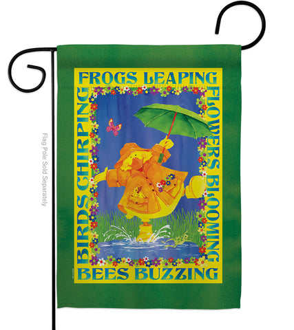 Spring Duckling - Birds Garden Friends Vertical Impressions Decorative Flags HG105058 Made In USA