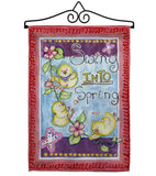 Swing into Spring - Birds Garden Friends Vertical Impressions Decorative Flags HG105045 Made In USA