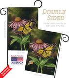 Coneflower - Bugs & Frogs Garden Friends Vertical Impressions Decorative Flags HG104086 Made In USA