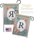 Butterflies R Initial - Bugs & Frogs Garden Friends Vertical Impressions Decorative Flags HG130148 Made In USA
