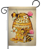 Bee Happy - Bugs & Frogs Garden Friends Vertical Impressions Decorative Flags HG137025 Made In USA